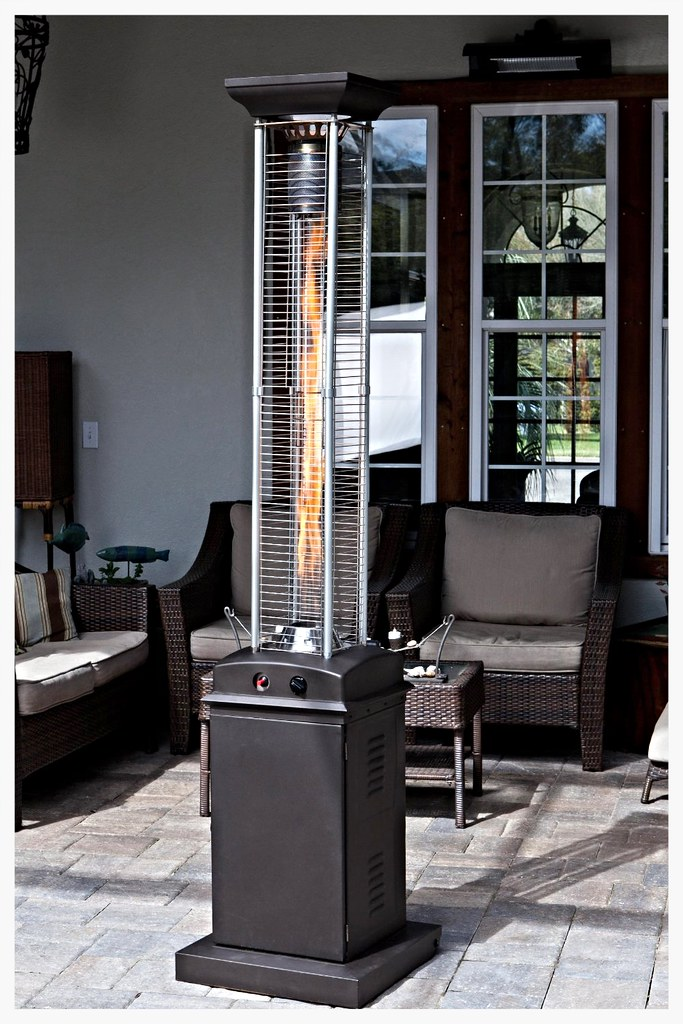 FireSense Mocha glass tube patio heater