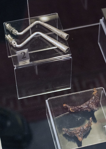 Silver elements(?) and iron spurs from the Tomb of Seuthes III