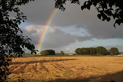 Don't miss all the beautiful colors of the rainbow looking For that Pot of gold! (emielnieuwenhuis) Tags: holland landscape gold rainbow farmer hay friesland potofgold
