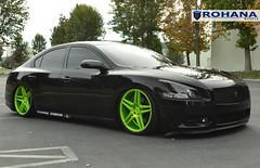 Nissan Maxima - RC8 Lime Green (8) (Rohana Wheels) Tags: nissan wheels rims concave maxima nismo rohana nissanmaxima rc8 4dsc rcseries rohanawheels nissanpower