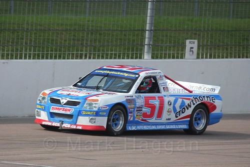 Freddie Lee in Pick Up Truck Racing, Rockingham, Sept 2015