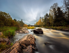 Koitelinkoski, Kiiminki (SamppaV) Tags: longexposure color nature water forest suomi finland landscape woods smooth overcast rapids saturation oulu current koitelinkoski neutraldensity kiiminki graduatedneutraldensity