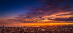 Venice's sky is on fire