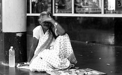 The Shy Lady (vtuli77) Tags: street monochrome portraits canon 50mm chandigarh scottkelby niftyfifty canon450d digitalrebelxsi canondigitalrebelxsi worldwidewalk