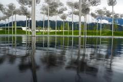 Kristalwelten (JTork) Tags: trees sky mountains tree water fog museum clouds austria shine sony air hills swarovski alpha innsbruck kristal wattens nex musea welten kristalwelten diamants a6000