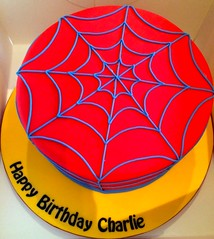 Simple spiderman design (Kennet House Cakes) Tags: cake spiderman