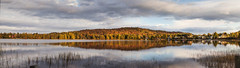 Lake (Cyrielle Beaubois) Tags: autumn panorama lake canada reflection colors automne couleurs lac reflet qubec 2015 canoneos5dmarkii cyriellebeaubois sainteluciedeslaurentides