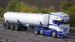 NK63 ASV (panmanstan) Tags: truck wagon m18 yorkshire transport lorry commercial vehicle freight tanker scania bulk langham haulage hgv r500 simongibson