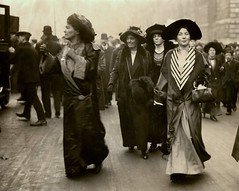 Emmeline Pethick Lawrence and Christabel Pankhurst, c.1908-1912.