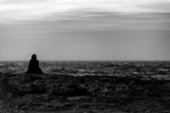 e poi lei sedeva l e non c'era nulla che non fosse altrove (achrome_29) Tags: blackandwhite water