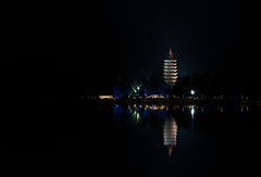 (xiewenhui5889) Tags: night buildings river ancient scenery chinese beijing architectural   gui  the         yanqing