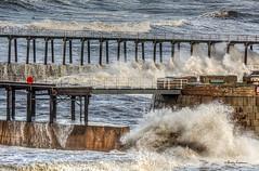 337 (Bev Cappleman) Tags: water waves extension splash breakingwave whitbypier