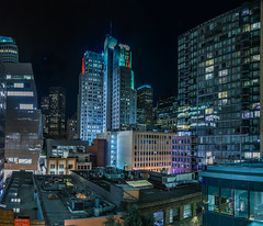 over howard and hawthorne streets (pbo31) Tags: sanfrancisco california city november urban panorama black color green fall architecture night dark nikon rooftops over sfmoma large panoramic structure soma hawthorne stitched howardstreet 2015 boury pbo31 d810 financialdistrictsouth