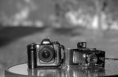 When Two Centuries Meet Together (Sergiy Lenzion) Tags: blackandwhite bw film monochrome dof olympus scan d76 negative epson 135 13 olympusom2 om2 perfection selfdeveloped bwfilm 4990 iso32 kodakd76 classicblackwhite foto32 svema cbema  filmism developer:brand=kodak svemafoto32 developer:name=kodakd76 film:brand=svema film:name=svemafoto32 ei20 film:iso=20 bwfp filmdev:recipe=10539