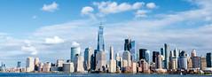 Manhattan Skyline - View from Liberty State Park (gourab66) Tags: manhattan libertystatepark newjersey travel nikon nikond810 nikon160350mmf40 worldtradecenter waterscape cityscape landscape