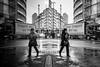 Going Both Ways (Sean Batten) Tags: london england uk cityoflondon streetphotography street reflection glass window traffic lorry person people nikon df 35mm city utban