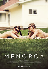 """""""Menorca"""" Movie Poster (AnniversaryRoad) Tags: film movie filmset movieset poster filmposter movieposter promotional menorca women nude nudity naked independent breasts photography outside outdoor house grass woman drinks beer bottles fineart art canon 5d mkii canon5d sigma zoom telephoto 70200 70200mm colour color digital canada canadian"""