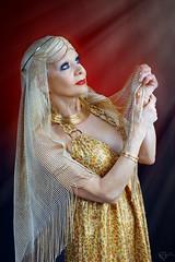 Maaria (DZ-fotografia) Tags: lady maria golden dress light heavenly veil scarf