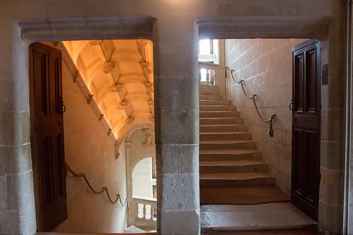 Escalier du Château de Chenonceau