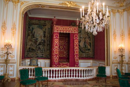 La chambre de parade de Louis XIV, au Château de Chambord