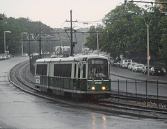 MBTA 3438 rolled B BOSTON COLLEGE VIA COMMONWEALTH AVE, Boston, MA on June 25, 1983 (railfan 44) Tags: masstransit publictransit transit streetcars streetcar