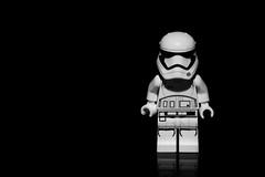 Stormtrooper. (Suggsy69) Tags: nikon d5200 stormtrooper lego legominifigure minifigure starwars legostarwars blackwhite bw blackandwhite