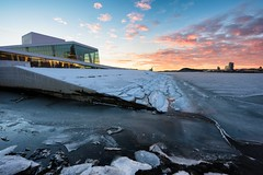 Frozen Opera (eriknst) Tags: oslo opera frozen snow ice morning sunrise cold eriknst 2017 january nikon d810 1424mm f11 sirui calm sun winter oslofjord outdoor