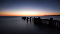 Long exposure sunset (Chas56) Tags: mentone beach bay portphillipbay longexposure ndfilter sunset water sea seaside seascape structure groyne pier jetty landscape horizon smooth silky ngc canon canon5dmkiii wideangle 1635mm melbourne