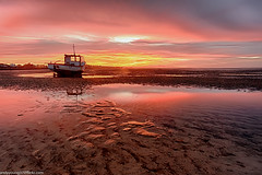 Meols Beach Sunset (1 of 1) (andyyoung37) Tags: boat meolsbeech merseyestuary beach greatsky sunset thewirral meols england unitedkingdom gb