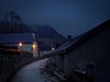 Old Village Street at dusk (Dan Guimberteau) Tags: street night light azet pyrenees france blue sony cybershot