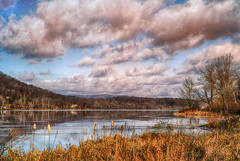 Mudge-Pond (desouto) Tags: nature hdr landscape trees ponds reserviors lakes sky color autumn leaves wildfilowers road forest rivers wildflowers clouds snow