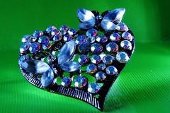 Macro Monday: Heart (Hayseed52) Tags: macromondayheart heart brooch pin jewel butterflies sparkle