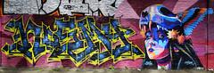 Nosmy  •   Nexer (HBA_JIJO) Tags: streetart urban graffiti art france artist hbajijo wall mur painting letters skull aerosol peinture lettrage graff portrait lettres lettring writer murale spray paris92 panorama woman bombing arrow nexer nosmy