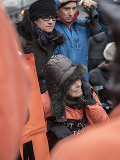 Silke Tudor and Eve Tetaz Protest Against Torture and Guantánamo Outside the Presidential Inauguration of Donald Trump