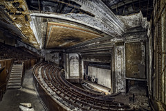 Victory Theatre (Frank C. Grace (Trig Photography)) Tags: holyoke massachusetts unitedstates victorytheatre theater victory restoration artdeco architecture abandoned crusty rusty seats performingarts newengland decay urbex urbanexploration victorytheaterws goldsteinbrothersamusementcompany 1920 nickelodeons presentationhouse eaglemedallion proscenium vaudeville stage curtain finalcurtain curtaincall on1pics nikon d810 frankcgrace trigphotography featurefilm film movietheater silentfilm massachusettsinternationalfestivalofthearts mifa hdr highdynamicrange photography