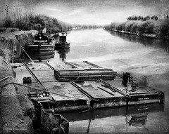 The old shipyard. (roddersdad) Tags: 2017 alanoliverworkboats canonpowershotg1xmkll exeter hood outdoor pontoons rivertrent workingboats barge cliveg1hkfeclipsecouk copyrightclivejmaclennan cranebarge httpswwwflickrcomphotosroddersdad trentside tug workboats