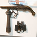 Ancient British pistol and field glasses