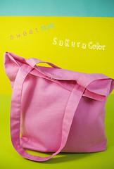กระเป๋าผ้าสีชมพู