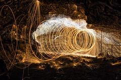 Lightpainting 1 (tan.ja1212) Tags: lichtmalerei lightpainting stahlwolle höhle