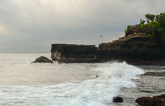 Cliff with the sea at sunset (phuong.sg@gmail.com) Tags: architecture asia bali balinese beautiful buddhism building clouds culture exotic green hindu historical history holidays holly indian indonesia island jakarta java jungle lake landmark landscape lombok nature ocean old oriental peaceful picture religion religious scenic sky sunset tanahlot temple tourist touristic traditional traditions travel tropical tropics vacation water