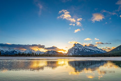 Vermillion Lakes (KayOne73) Tags: canada alberta banff vermillion lakes mt rundle landscape sunrise sony a7ii travel rokinon 14mm f28 lens reflection layer mask