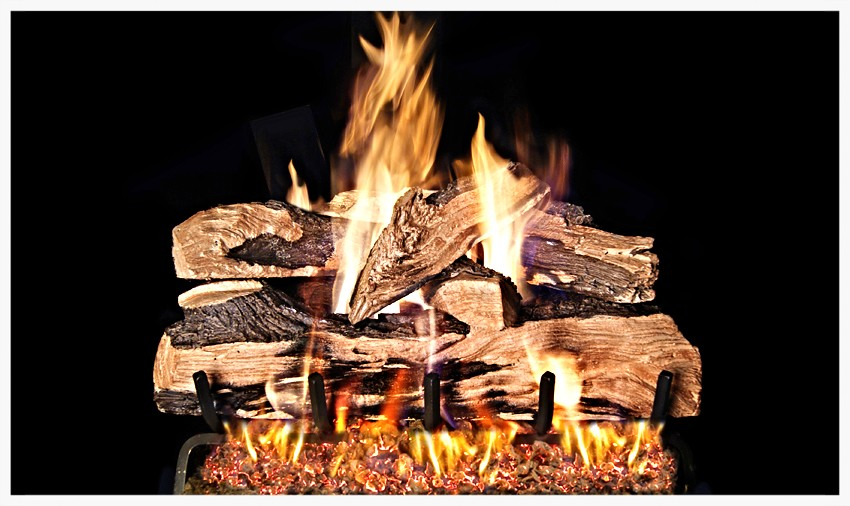 Real Fyre Split Oak Designer Fyre Gas Log Set