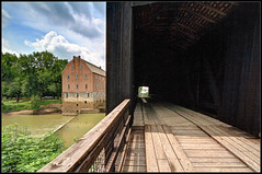 Burfordville Covered Bridge and Bollinger Mill (ioensis) Tags: park county bridge mill river whitewater state august jackson mo missouri covered cape bollinger 2015 burfordville girardeau jdl ioensis ©langholz2015 07852007067tmf1b2015