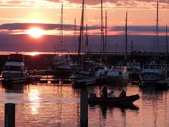 Sunset (mmicho) Tags: sunset sea mer canada nature port de boats boat seaside eau bateaux qubec bateau coucherdesoleil septiles