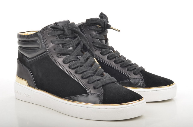 kyle michael high top sneaker schwarz kors hightop michaelkors kalbsleder veloursleder damensneakers 43t5kyfe5l