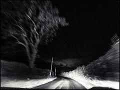20150803-187 (sulamith.sallmann) Tags: road street bw france nature night speed dark way landscape outside countryside frankreich europa nightshot traffic time nacht natur fast sw normandie verkehr manche fra dunkel weg nachtaufnahme landschaften nachts kurve schnell autofahrt geschwindigkeit lahague verzerrt bassenormandie schwarzweis strase autoverkehr sulamithsallmann beginnerdigitalphotographychallengewinner
