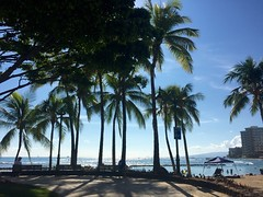 Kuhio Beach Park (anokarina) Tags: beach hawaii oahu palmtrees pacificocean diamondhead hi honolulu hnl kuhiobeachpark appleiphone6