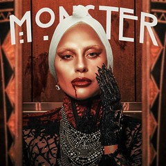 Lady Gaga - Monster (alexdotpsd) Tags: show house monster lady way this born hotel design graphicdesign artwork graphic album fame story cover american freak single gore horror murder asylum coven ep stefani gaga freakshow artpop fanmade germanotta