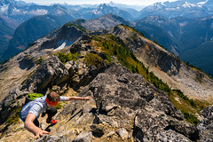 Descending from Point 6855 (absencesix) Tags: travel friends people mountains nature walking landscape iso100 washington unitedstates hiking noflash september climbing backpacking northamerica portfolio 16mm locations climbers northcascades facebook coppermountain cascaderange locale northcascadesnationalpark 2015 whatcomcounty mountainridge mountainsummit copperridge 500px screefield geo:country=unitedstates geo:state=washington activityaction apertureprioritymode exif:make=sony hascameratype naturallocale mountainsmountainranges haslenstype selfrating4stars camera:make=sony 1160secatf13 exif:aperture=ƒ13 subjectdistanceunknown mirrorlesscameras exif:isospeed=100 exif:focallength=16mm fe1635mmf4zaoss 2015travel sonyvariotessartfe1635mmf4zaoss a7rii sonyα7rii ilce7rm2 sonyalphaa7rii exif:lens=fe1635mmf4zaoss camera:model=ilce7rm2 exif:model=ilce7rm2 september112015 copperridgeloop littlebeavertotwinrockstotaptotoindiancreektocopperlaketoegglaketohannegancamp michaelkrautmann northcascadestraversebackpackingtrip0906201509122015 point6855 geo:lon=12146013767 geo:lat=4893018086 geo:city=whatcomcounty geo:location=copperridgetrail 48°5549n121°2736w whatcomcountywashingtonunitedstates