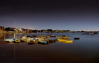 Harbour lit by SuperMoon